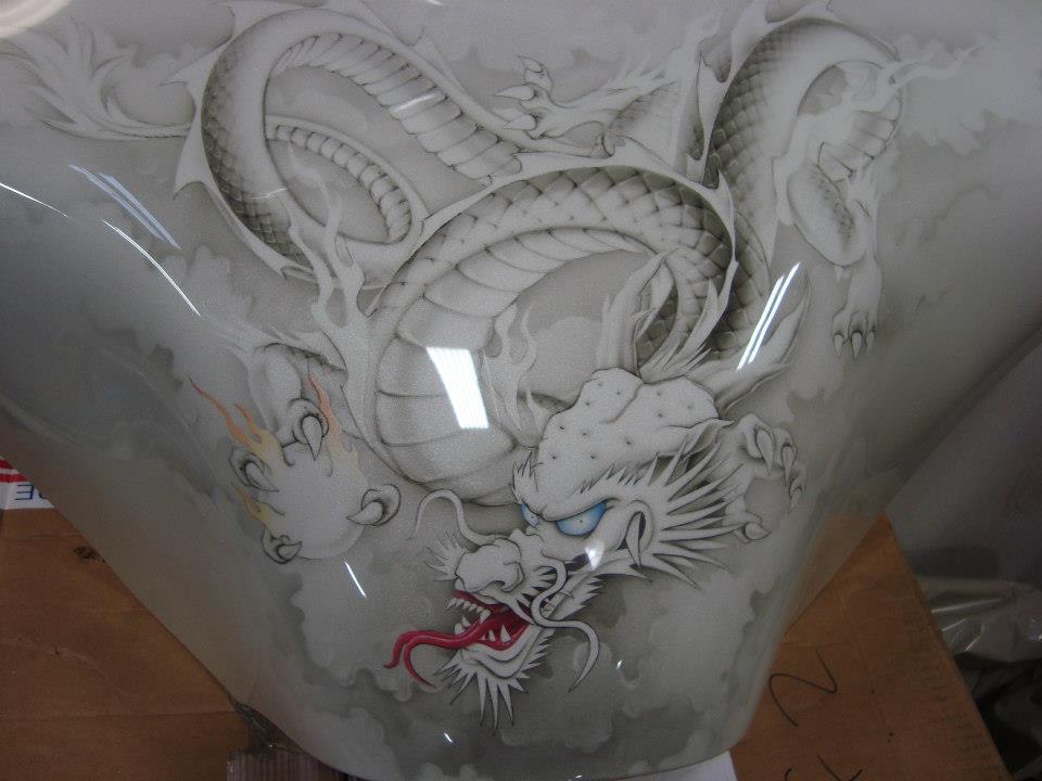 Custom dragon airbrushed onto a Victory Vegas motorcycle fairing. 960 x 720 · 67 kB · jpeg